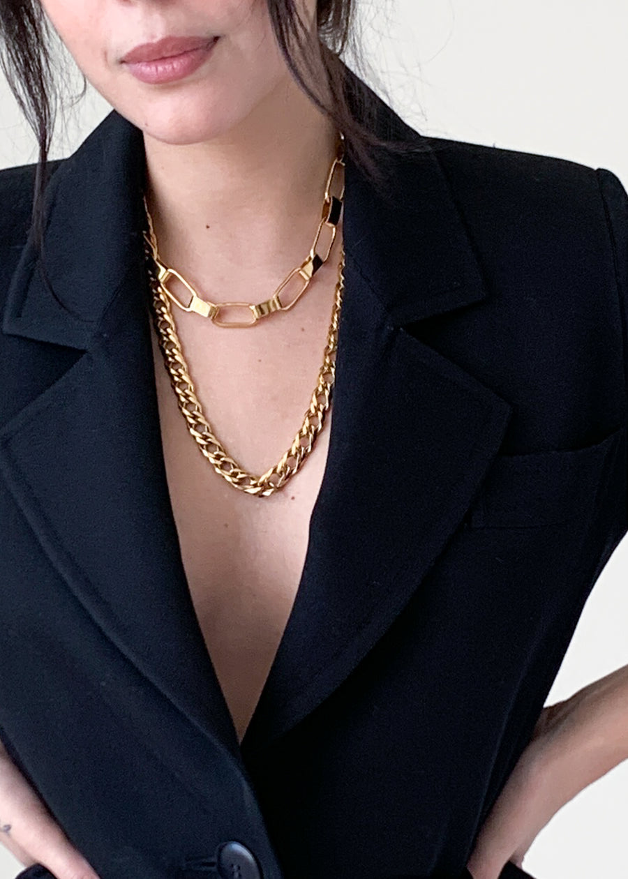 Copy of Vintage Gold Chain Link Necklace