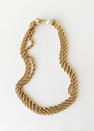 Vintage Whiting & Davis Multi Rope Chain Necklace