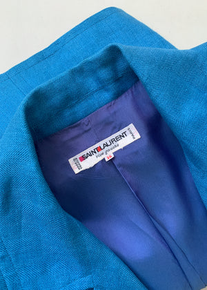 Vintage Yves Saint Laurent Linen Jacket