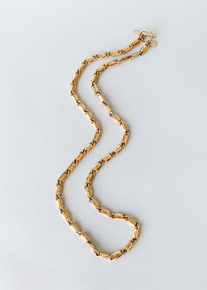 Vintage Ann Klein Gold Toggle Chain