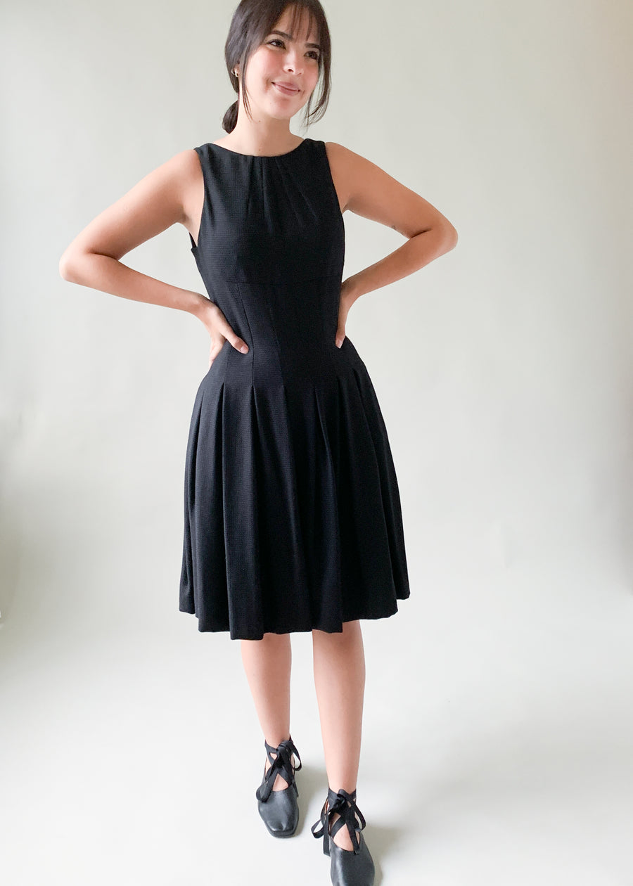 Chanel Ballerina Silhouette Black Dress