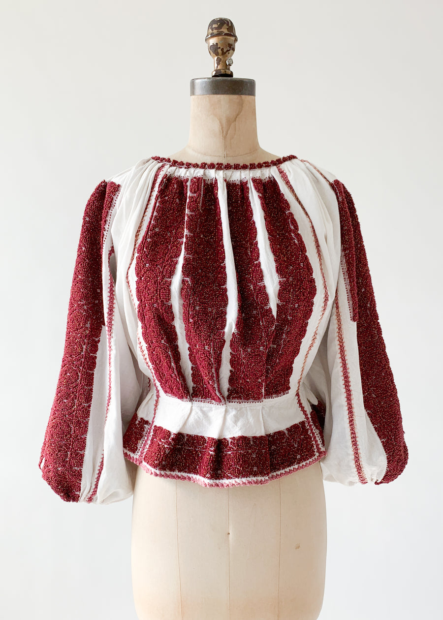 Vintage Eastern European Embroidered Top