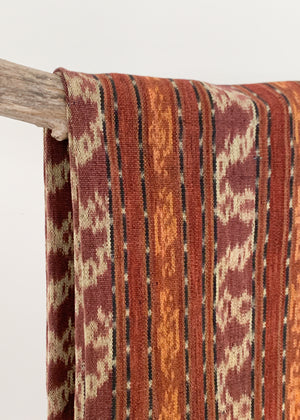 Vintage Woven Ikat Throw
