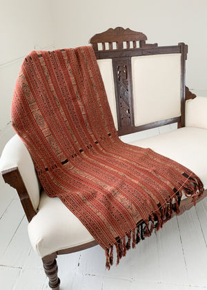 Vintage Woven Striped Ikat Throw