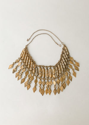 Vintage Brass Collar Necklace