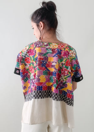 Vintage Embroidered Huipil