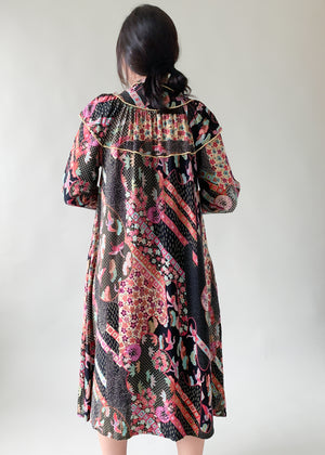 Vintage Patchwork Print Dress