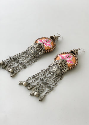 Vintage Thai Ceremonial Earrings