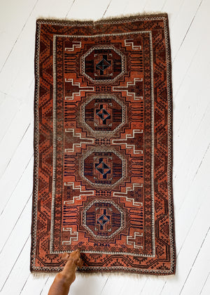 Vintage Geometric Turkish Rug