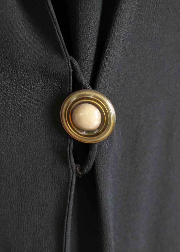 Vintage 1920s Lucite Coat Button