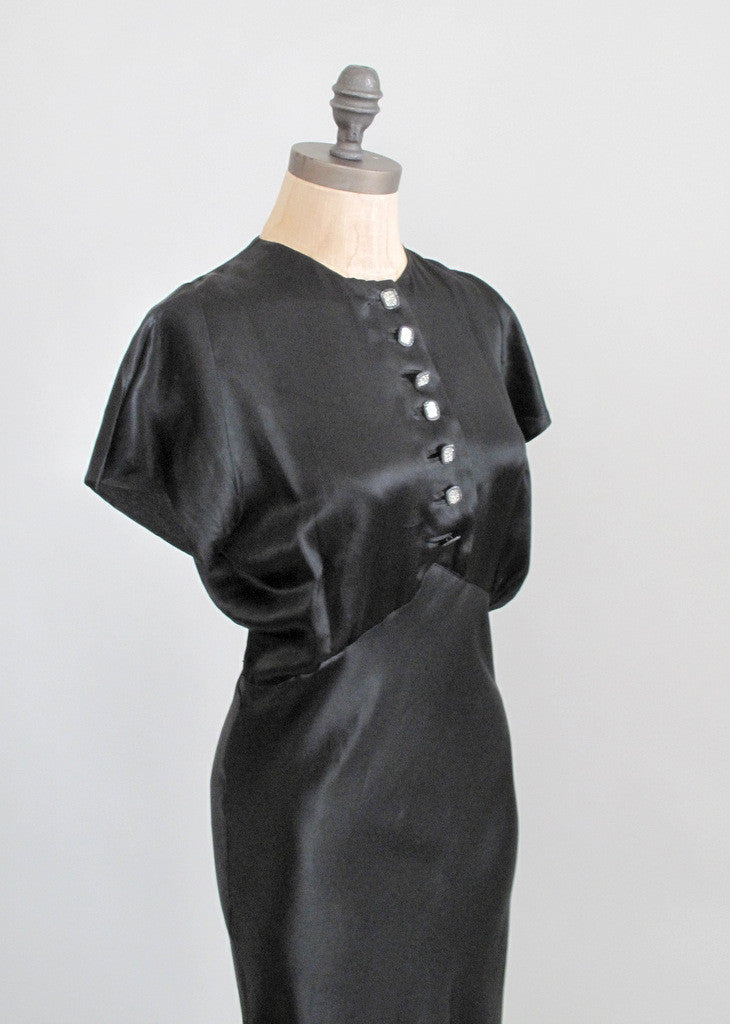 Vintage 1930s Hollywood Glam Evening Dress