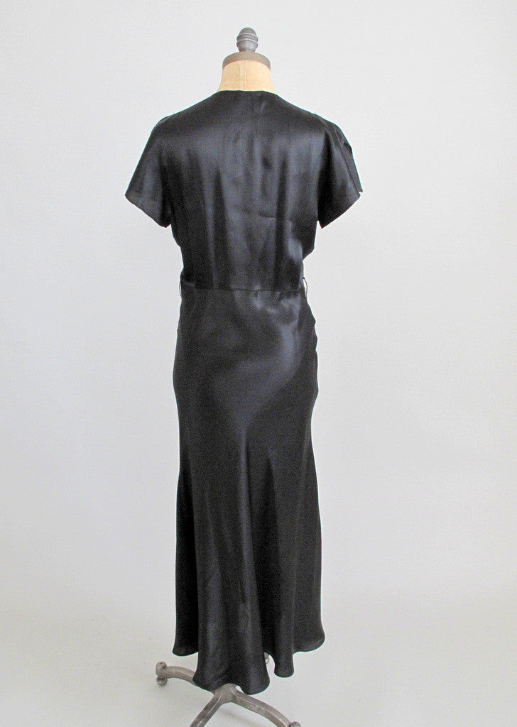 Vintage 1930s Art Deco Bias Cut Dress