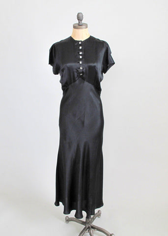 Vintage 1930s Art Deco Evening Dress