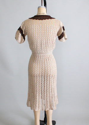 Vintage 1930s Babydoll Knit Day Dress