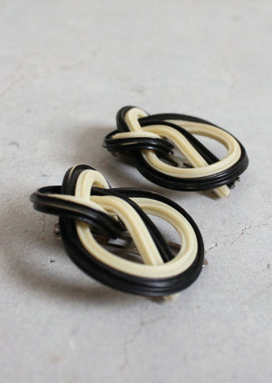Vintage 1930s Knotted Celluloid Dress Clips