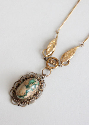 Handmade upcycled vintage necklace