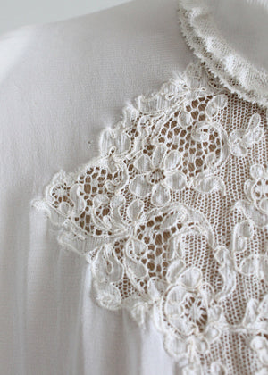 Vintage 1930s White Lace Blouse