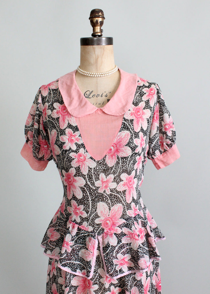 Vintage 1930s day dress from Raleigh Vintage