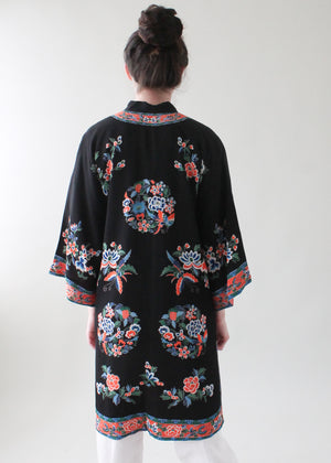 Vintage 1930s Chinese Printed Silk Jacket