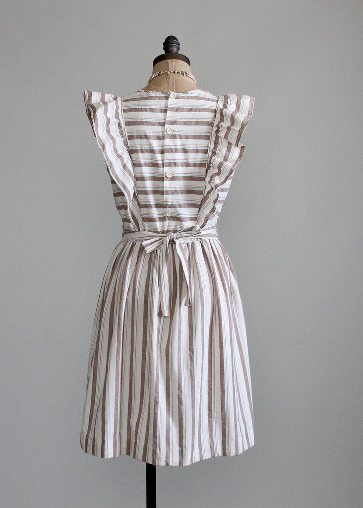 Vintage 1940s Cotton Pinafore Sundress