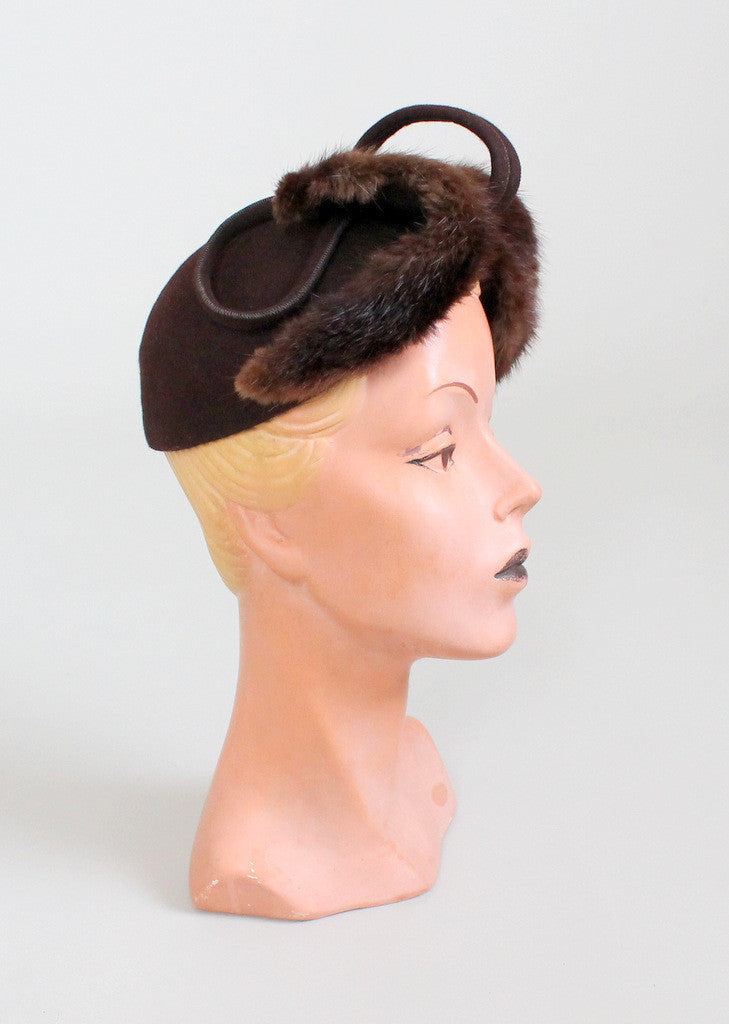 Vintage 1940s Mink and Wool Hat