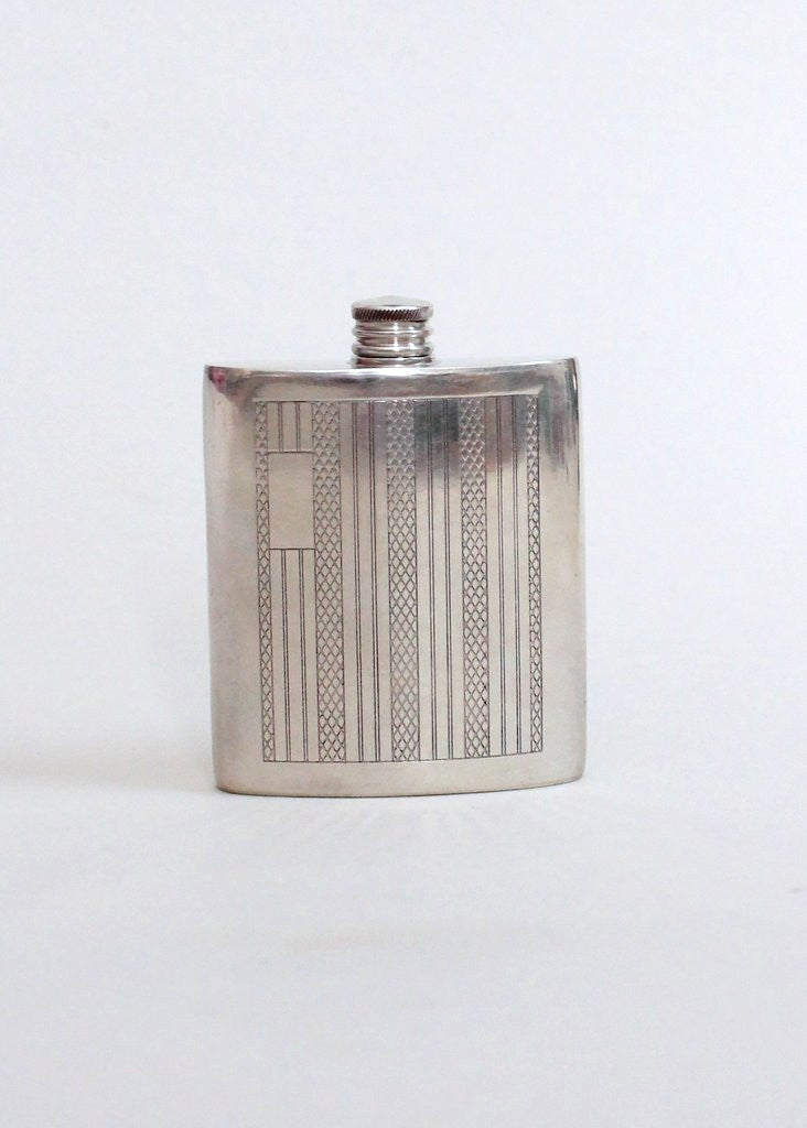 Vintage 1950s Tuxedo Pocket English Pewter Flask