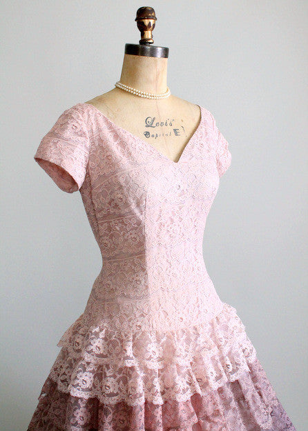 Vintage 1950s Lace Dress Alternative Wedding