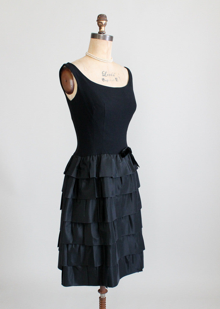 Vintage Jonny Herbert Black Party Dress