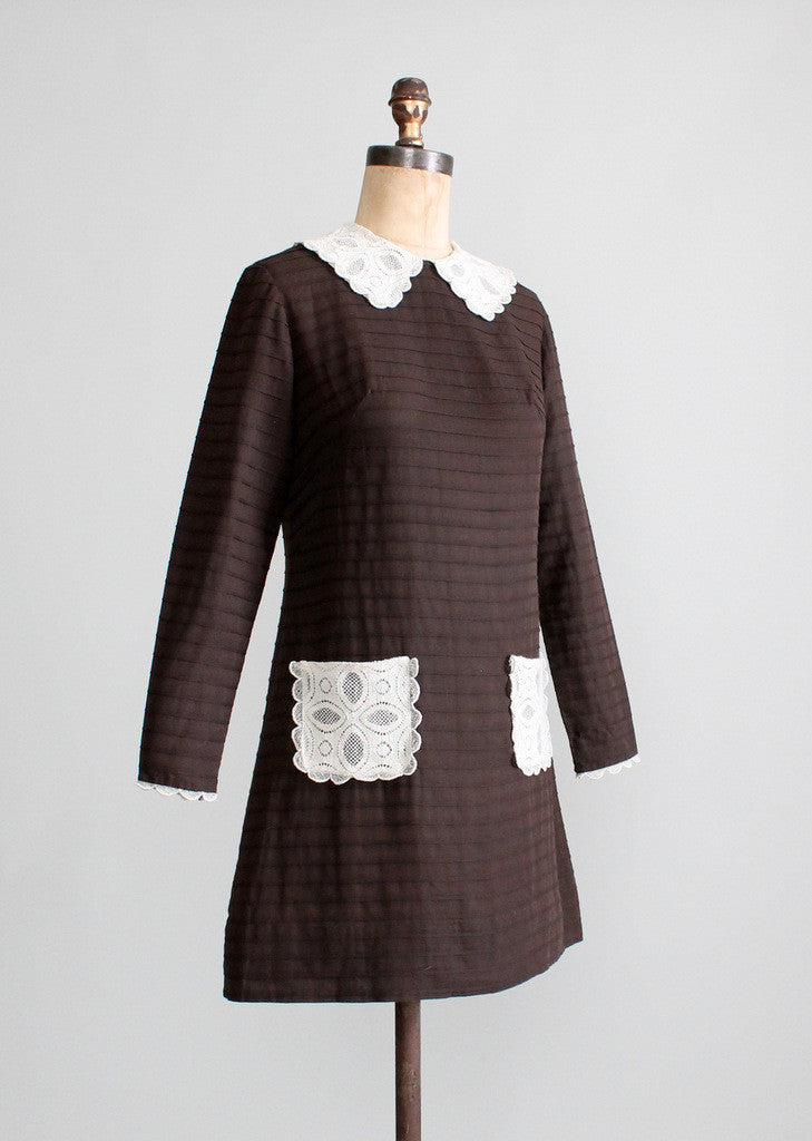 Vintage 1960s MOD Schoolgirl Mini Dress