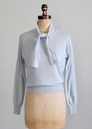 Vintage 1970s Grey Bar Harbor Sweater