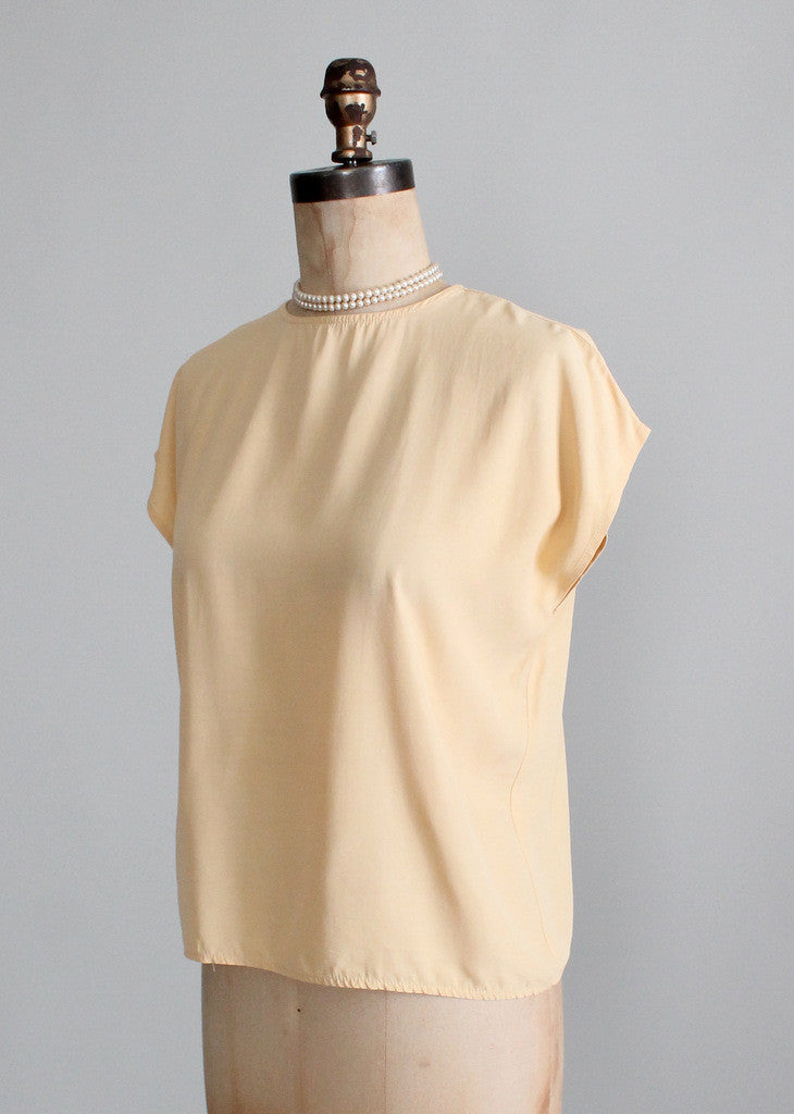 Vintage 1980s Mustard Slouch Top