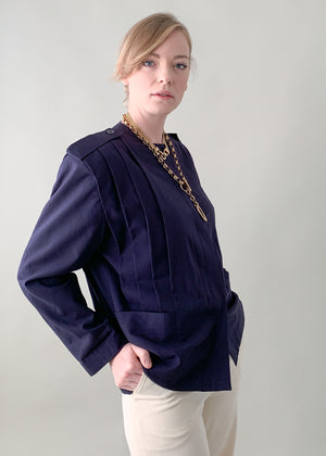 Vintage 1980s Ted Lapidus Pleated Jacket