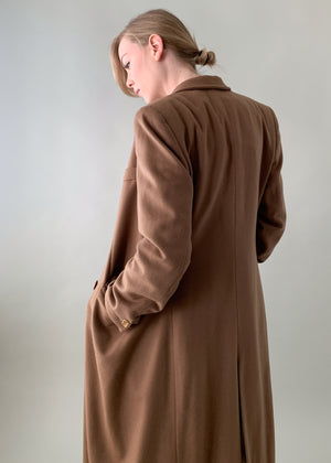 Vintage Armani Camel Cashmere Trench Coat