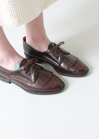 Vintage 1980s Bally Fringed Oxford Wingtips