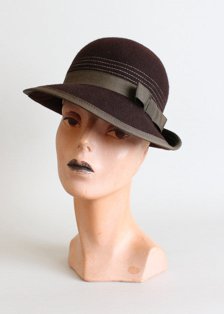 Vintage 1970s Betmar Brown Bowler Hat