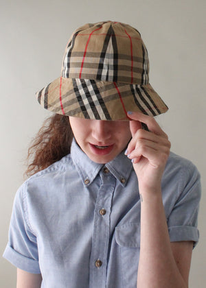 Vintage Burberry Reversible Bucket Hat