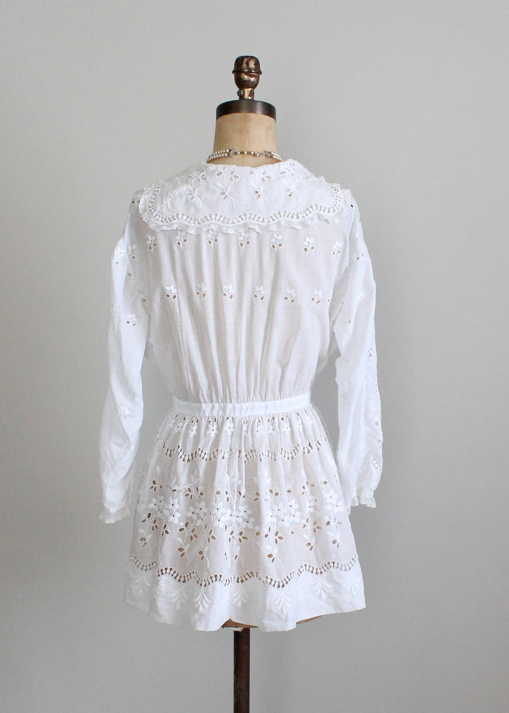 Edwardian eyelace lace blouse