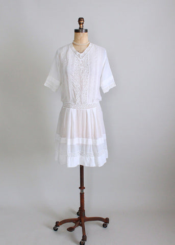 Antique Edwardian Cotton Lawn Dress