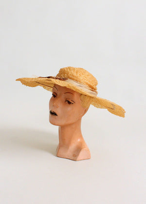 Vintage 1950s G. Howard Hodge Wide Brim Hat