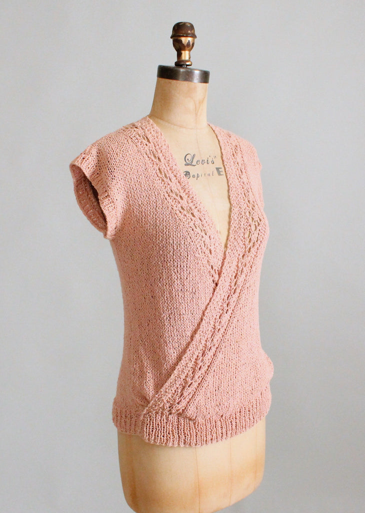 Vintage 1980s Summer Knit Layering Sweater