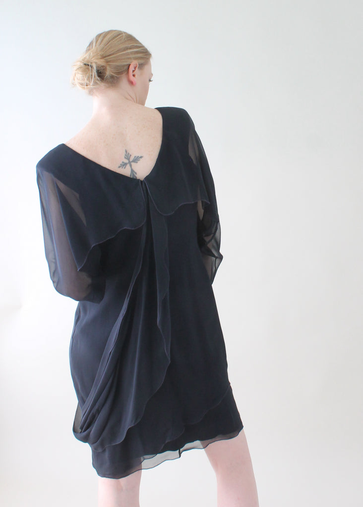 Vintage Holly's Harp Silk Chiffon Dress
