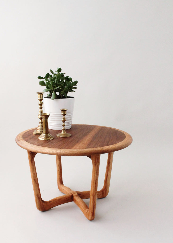 Mid-century Lane Round Side Table