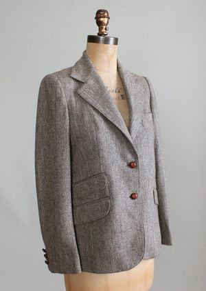 Vintage Londonderry Herringbone Tweed Jacket