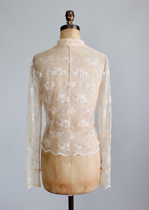 Vintage Sheer Lace Blouse