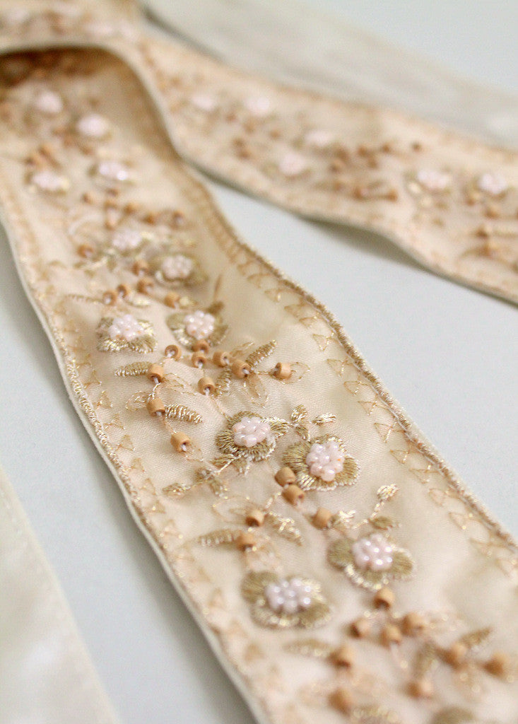 Vintage Beaded Belt or Wedding Head Scarf