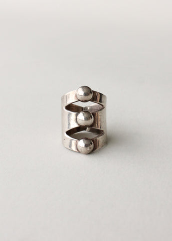 Vintage Sterling Modernist Ring