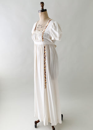 Vintage 1960s India Imports Cotton Maxi Dress