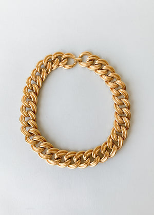 Vintage Chunky Gold Choker Necklace