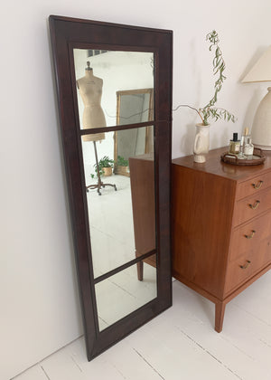 Vintage Wood Frame Floor Mirror