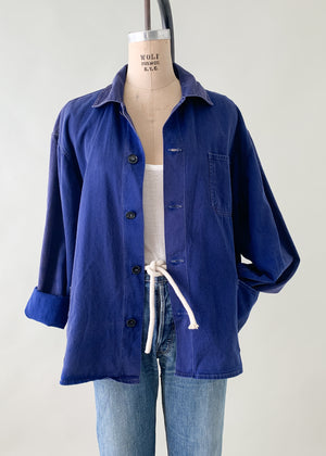 Vintage 1960s European Indigo Workwear Jacket